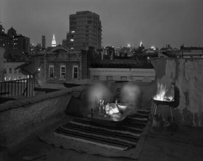 Matthew Pillsbury, 'Lou Peralta and Dale Peck, Rooftop Dinner, Sunday', 2010