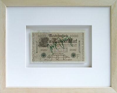 Joseph Beuys, '1000 Reichsmark (Kunst=Kapital)', 1974