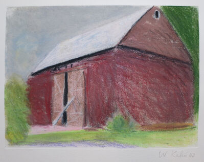 Wolf Kahn, 'Barn with Propped Door II', 2002