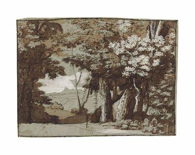 Claude Lorrain, 'A wooded landscape'