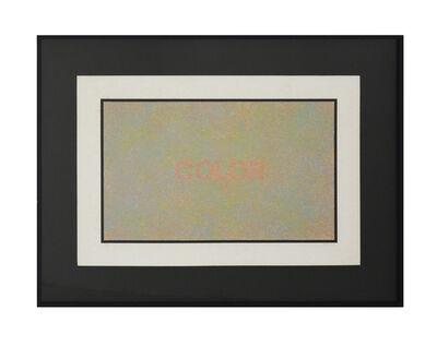 Claudio Tozzi, 'Color', 1975