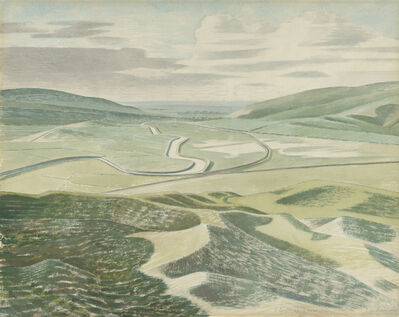 Eric Ravilious, 'Floods at Lewes ', 1935