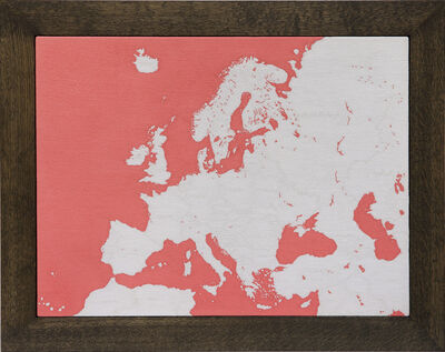 Aoyama Satoru, 'Map of Europe', 2016