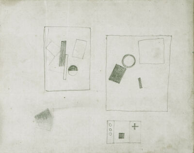 Kasimir Severinovich Malevich, 'Three Suprematist Compositions (motifs of 1915,1917,1920)', ca. 1924