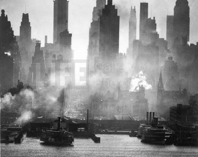 Andreas Feininger, '42nd Street, NY as Viewed from Weehawken, NJ', 1946