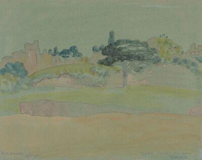 Arthur Bowen Davies, 'Ruins, Palatine Hill, Rome'