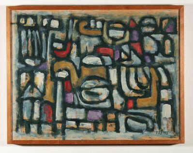 Jan Schoonhoven, 'Winter voor 1920', 1955