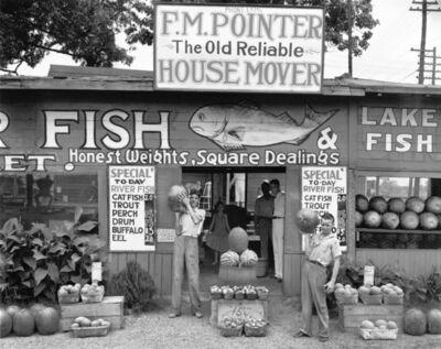 Walker Evans, 'Roadside Sign near Birmingham, Alabama', 1936