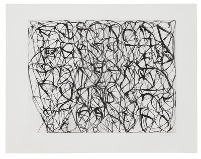 Brice Marden, 'Cold Mountain Series, Zen Studies 1-6: Plate 4', 1991
