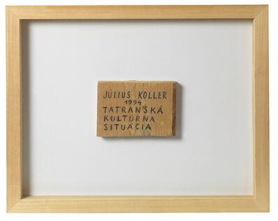 Július Koller, 'Untitled (Wood)', 1994