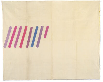 Giorgio Griffa, 'Obliquo policromo', 1978
