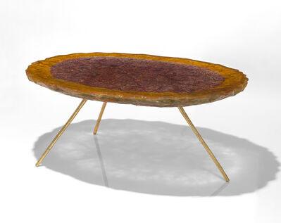 Helene de Saint Lager, 'Table Orangee Et Violette', 2018