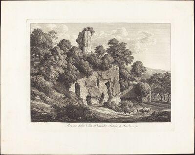 Johann Christian Reinhart, 'Rovine della villa di Ventidio Basso a Tivoli', 1793