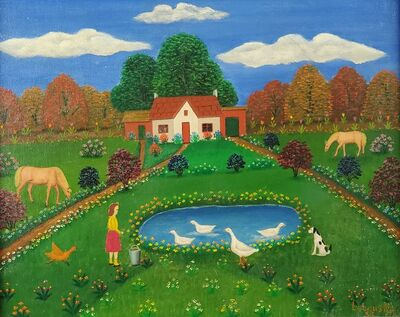 Lawrence Lebduska, 'Duck Pond', 1955