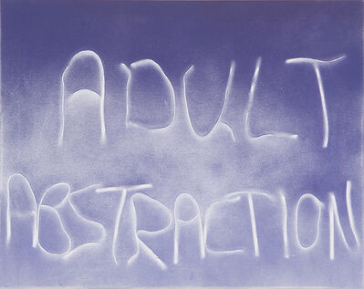 Scott Reeder, 'Untitled (Adult Abstraction)', 2012