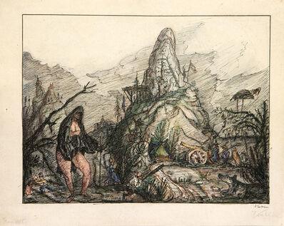 Alfred Kubin, 'Frau Welt', ca. 1912