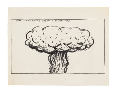 Raymond Pettibon, 'No Title (The cake going...)', 1986