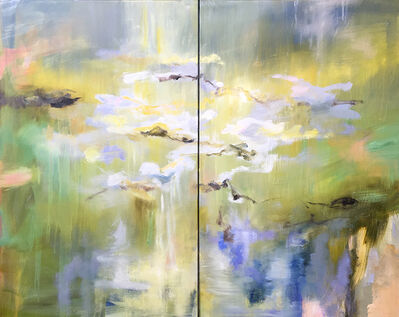 Kathy Buist, 'Waterlilies - Diptych', 2018