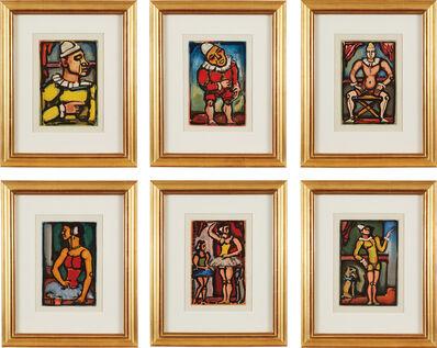 Georges Rouault, 'Cirque de l'étoile filante (Shooting Star Circus): six plates (C. & R. 242-3; 249; 251; 254-5)', 1934-38