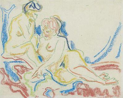 Ernst Ludwig Kirchner, 'Zwei weibliche Akte', 1908