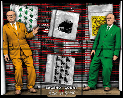 Gilbert and George, 'BAGSHOT COURT', 2020