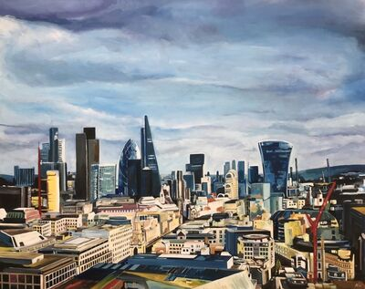 Angela Wakefield, 'London Skyline from St Paul's Cathedral with the 'Gherkin', the 'Walkie-Talkie' & Leadenhall Building', 2017