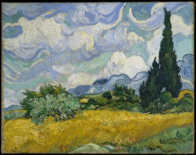 Vincent van Gogh, 'Wheat Field with Cypresses', 1889