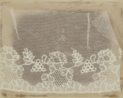 William Henry Fox Talbot, 'Lace', before February 1845