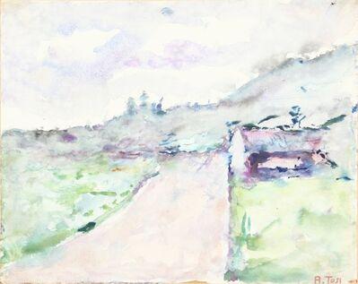 Arturo Tosi, 'Strada nel verde', early Fifties