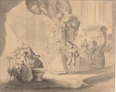 Luis Paret y Alcázar, 'Dance in a Palace', ca. 1770/1775