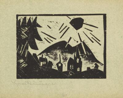 Lyonel Feininger, 'Mountain Village', 1918