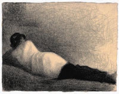 "Georges Seurat, 'Reclining Man (Study for ""Une baignade, Asnières"")', 1883/84"