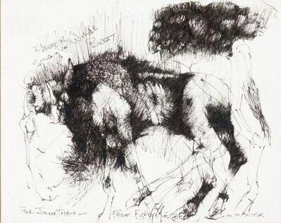 Ezrom Legae, 'Study of Wildebeest', 1996