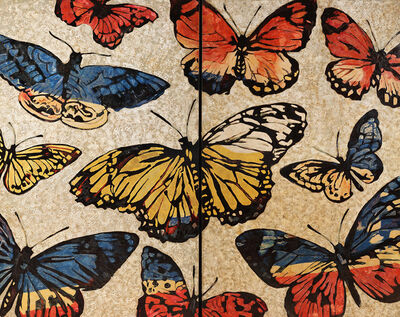 David Bromley, 'Lacquered Butterflies', 2017