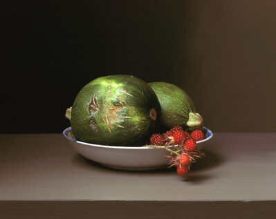 Sharon Core, 'Early American, Still Life with Wild Raspberries', 2008