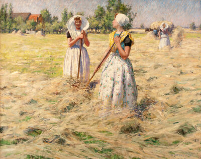 George Hitchcock, 'Haymakers, Zeeland', ca. 1890