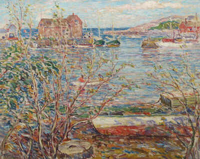 Reynolds Beal, 'Rockport Harbor', 1922