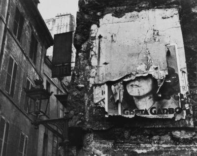 Ilse Bing, 'Greta Garbo Poster', 1932