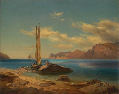 Johann Gottfried Steffan, 'Ufer am Gardasee in Oberitalien', 1846