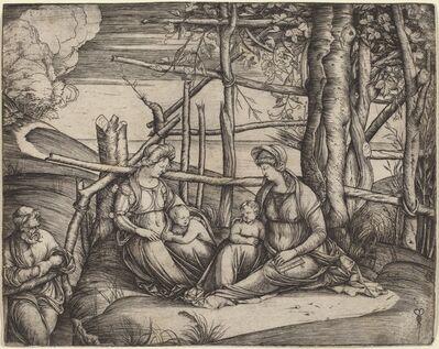 Jacopo de' Barbari, 'Holy Family with Saint Elizabeth and the Infant Saint John the Baptist', ca. 1499/1501