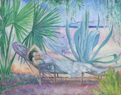 Henri Lebasque, 'Saint-Tropez, le hamac sous les pins', ca. 1923