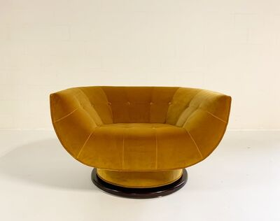 Adrian Pearsall, 'Swivel Lounge Chair in Loro Piana Velvet', 1970s