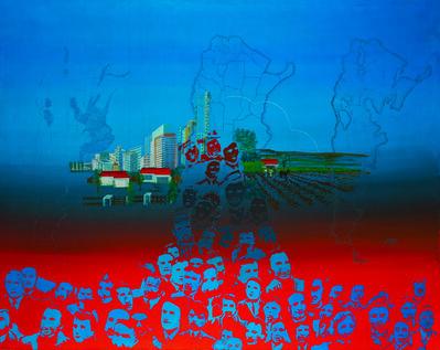 Elda Cerrato, 'Serie: Para una Imagen del Hombre IV', 1976