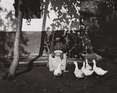 André Kertész, 'Tisza-Szalka, Feeding the Ducks, Hungary', 1924/1980