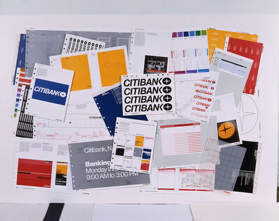 Dan Friedman, 'Citibank Manual Press Sheets,reject printed pages from theCitibank Identification StandardsManual', 1976