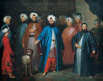George Engelhardt Schröder, 'Mehmed Said Efendi and his Retinue', Mid-18th Century