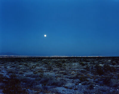 Robert Voit, 'Moonrise ove Las Vegas, Nevada, USA', 2006