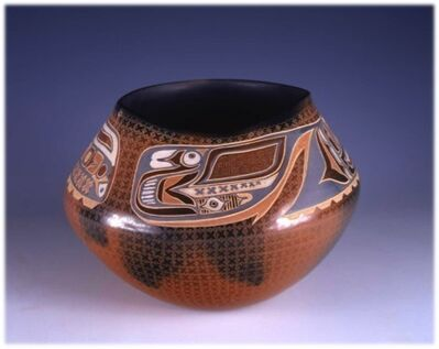 Susan Folwell, 'Storage Jar with painted designs (Red Northwest Coast)', 1997