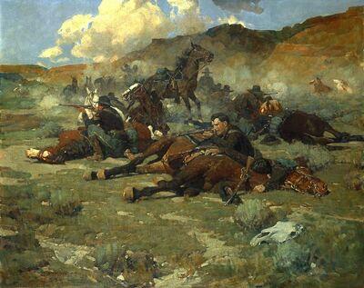 Frank Tenney Johnson, 'On the Thornburgh Battlefield', 1934
