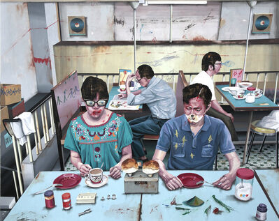 Shih Yung Chun, 'Hong Kong x Taipei. L  -  (Cha Chaan Teng) Hong Kong Style Café / Which Pineapple Bun is Heavier', 2014